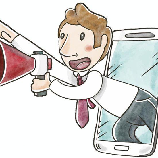 Un influencer urla con megafono